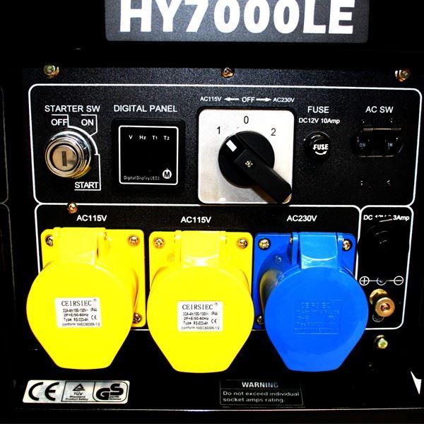 Hyundai Vehicle Service Contract: Hyundai HY7000LEK 5k.5kW Electric Start Petrol